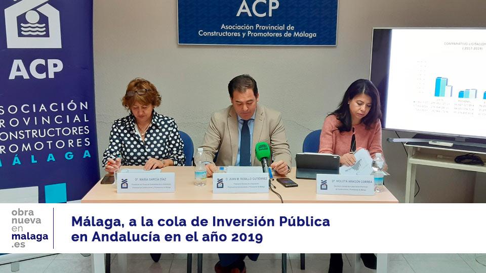 inversión pública en andalucía 2019