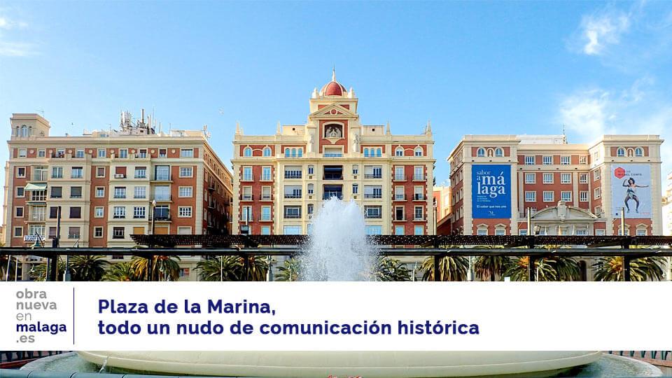plaza de la marina en málaga capital