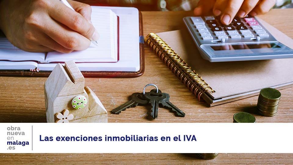 exenciones IVA - obranuevaenmalaga
